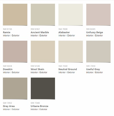 2016 Sherwin Williams Paint Colors
