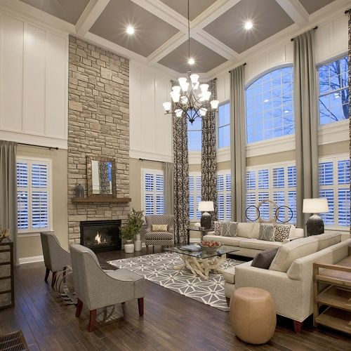 Living Room With High Ceiling Designs: Clever Ceiling Design Tricks To Change Your Room Sizes